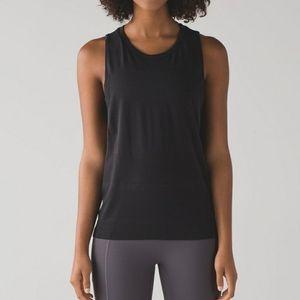 Size 6 Lululemon Black Breeze By Muscle Tank